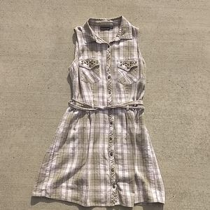 Olive button down summer dress